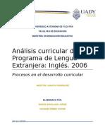 Análisis curricular del Programa de Lengua Extranjera. Inglés 2006