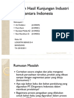 Laporan Hasil Kunjungan Industri 2011 Arif, Azmi, Dale, Rani Upload