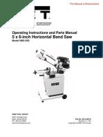 Jet Bandsaw Manual - 414457