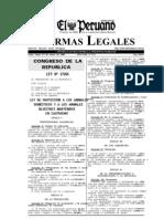 Ley de Proteccion a Los Animales 27265