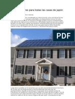 Paneles solares para todas las casas de Japón en 2030