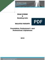 Malaysia Syllabus 2010