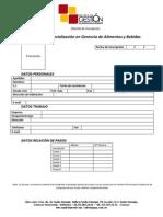 Planilla de inscripción Especialización EGAB