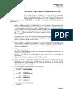 Acta de Constitucion de Comite Bipartito de Capacitacion