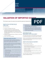 Customs Valuation of Imported Goods
