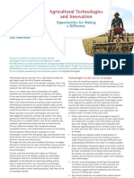 Agricultural Technology & Innovation