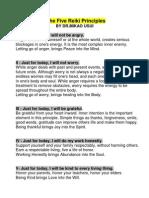 The Five Reiki Principles