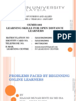 Problems Faced by Beginning Online Learners-ppt Presentation-examination.21!3!2011