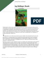 [Trading] Stocks & Commodities - Using Bollinger Bands by John Bollinger