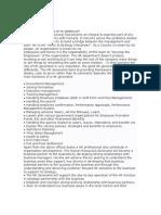 HR Generalist Role