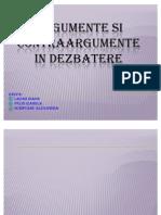 Argumente Si Contraargumente in Dezbatere Proiect Logik