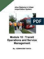 Transit Operation Mgt