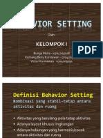Behavior Setting