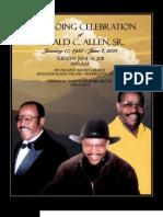 Gerald C. Allen Funeral Program
