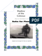 1330 Captnflavs Transcriptions Piano Solo Sheet Music Shadow Colossus Suite Piano