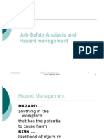 Risk Management and Job Safety Analysis
