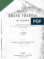 COSSON E., 1879 - Le règne végétal en Algérie