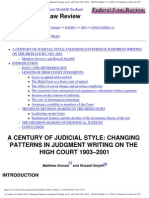 A Century of Judicial Style