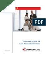 Dot Net Nuke Community Edition 5.4 Quick Administration Guide