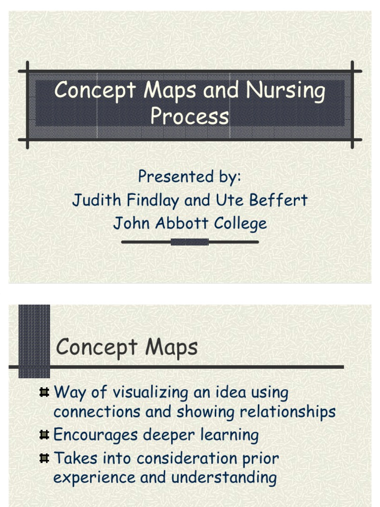 concept maps and nursing process judith 2005