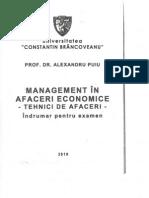 Indrumar Pentru Examen (MANAGEMENT in AFACERI ECONOMICE - Tehnici de Afaceri)