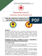 Regolamento nazionale Formatori e Istruttori di Protezione Civile CRI