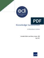 ODI and ADB Taxonomy Literature Review
