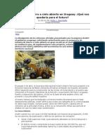 Minería de hierro a cielo abierto en Uruguay