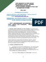 Intermediate I Syllabus Fall 2010 Vs1- BMA(4)-1