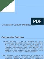 Corporate Culture Modification
