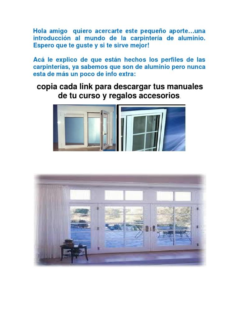 La instalaci n exterior ventana de ajuste - Manual De La Ventana Tutorialcarpinteria Y Aluminio Gestor De Descarga