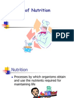 Modes of Nutrition