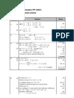 FP1 Practice Paper a Mark Scheme