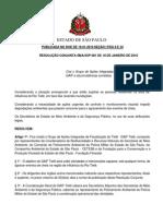 Resolução SMA_001 DE 18.01.10_Cria o grupo de Fiscalizaçao do TIETE