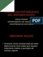 VALORACIÓN POR IMÁGENES DEL ABDOMEN AGUDO EN EL ADULTO