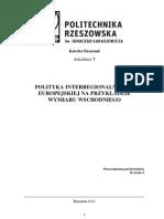Polityka Interregionalna Unii Europejskiej na przykładzie Wymiaru Wschodniego pdf