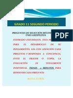 PRUEBA DE FILOSOFÍA GRADO 11 2P