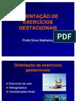ORIENTAÇÃO DE EXERCÍCIOS GESTACINAIS