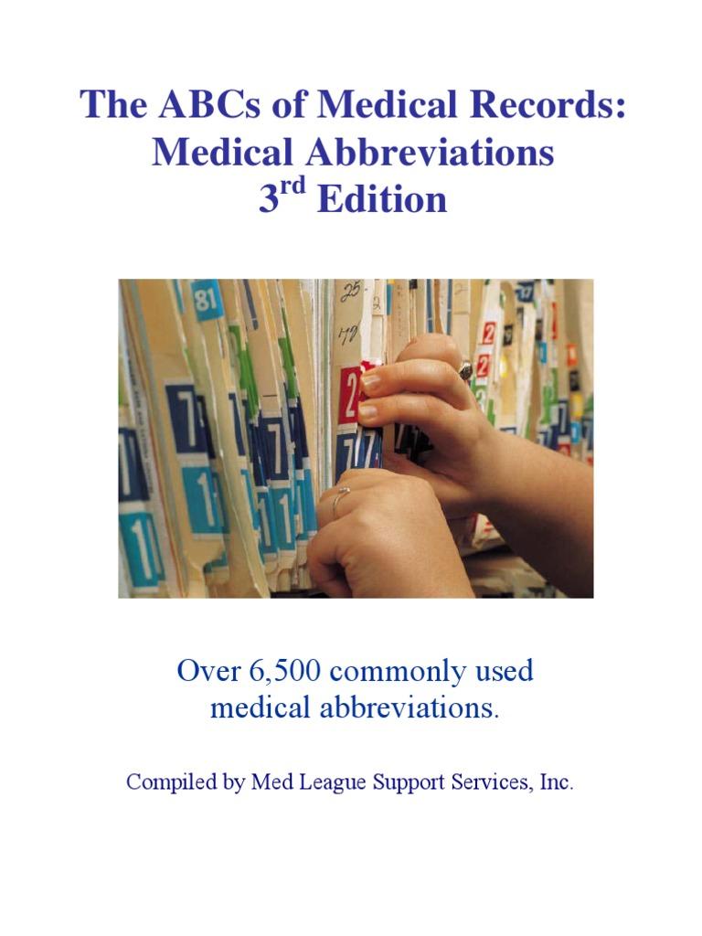 ABC Medical Abbreviations | Heart | Ct Scan
