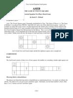 Aseb the Game of Twenty Squares