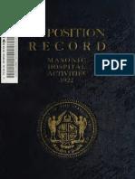Exposition Record and History of Masonry 1922