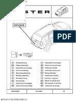 Инструкция по монтажу  защитной накладки на задний бампер Renault Duster