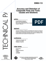 Accuracy and Distortion of Composite Parts and Tools