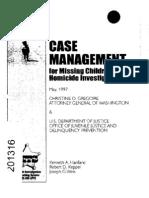 Case Management Missing Children
