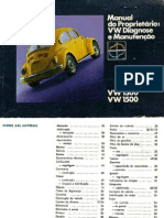 VW Fusca - Manual Do Proprietario 1300-1500
