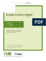 RFN15 Credit is Not a Right