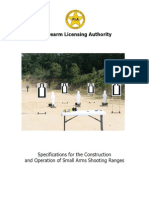 Specifications for the Construction and Operation of Small Arms Shooting Ranges