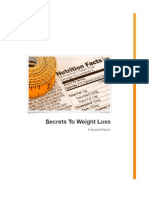 Secrets to Weight Loss