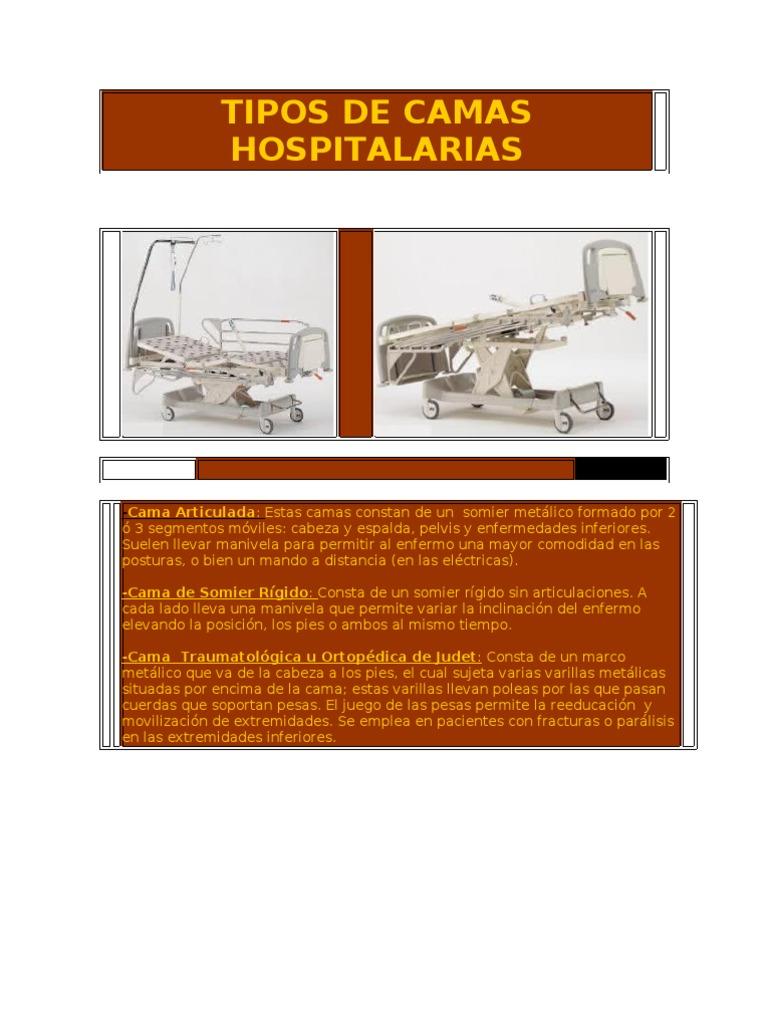 Tipos de Camas Hospital Arias