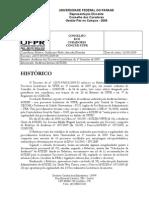 Parecer dos Trabalhos de Auditoria nos Processo Licitatórios da UFPR - I Sem